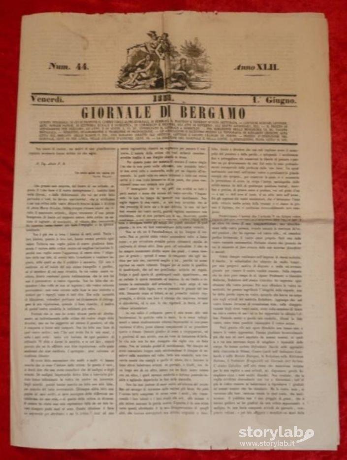 Giornale Di Bergamo 1 Giugno 1855   Storylab